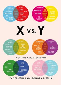X vs Y Book Epstein: Two sisters – one from Generation X, the other from Generation Y – compare their lives through the lens of TV, music, t...