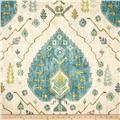 Richloom Margarita Suzani Seabreeze - Discount Designer Fabric - Fabric.com