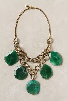 I need this Anthropologie necklace. It would so perfectly match my giant green agate ring! (not that I would wear them together)