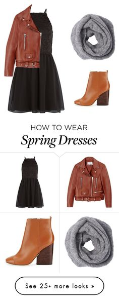 """""""Spring"""" by hillary200 on Polyvore featuring New Look, Acne Studios, Tory Burch and black"""