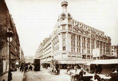 Immeuble felix potin sur la rue de Rennes à Paris au XIXe siècle