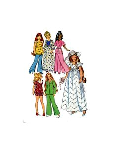 70s Crissy Doll Clothes PATTERN 6061 for 17.5 inch Teen doll Talky Crissy Look…