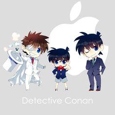 Detective Conan chibi's  (Kaito Kid and Shinichi)