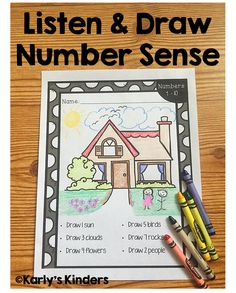 Listen & Draw Number Sense is a no-prep number sense activity for numbers 0-10. In this activity, students practice following directions, counting objects to 10, and fine motor skills while integrating art into this engaging math worksheet. NO PREP also makes this activity an easy extension activity, independent practice, homework, or quick sub plan. mat