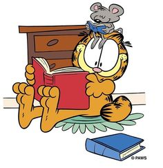 My book club. Garfield Quotes, Garfield Cartoon, Garfield And Odie, Garfield Comics, Comic Cat, Garfield Pictures, Orange Cats, Fat Cats, Cartoon Shows