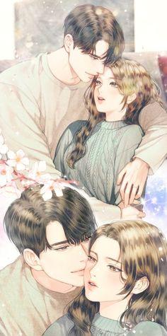 korean manga art ~ Manga , manga art black and white… Couple Manga, Anime Love Couple, Manga Art, Manga Anime, Anime Art, Anime Korea, Anime Love Story, Romantic Anime Couples, Sweet Couples