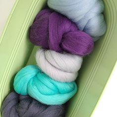 Merino Wool Tops Set - Holiday Blues - 125g