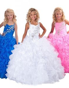 Sparky Girls Pageant Dresses for Little Miss Dress Puffy Skirt Beading Straps Ruffles Sequins Kids Girls Formal Occasion Princess Ball Gowns Online with $99.48/Piece on Caradress's Store | DHgate.com