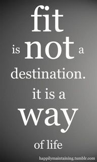 Fit is not a destination. It is a way of life.
