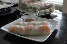 Malisa's Food Blog: Goi Cuon (Vietnamese Spring Rolls) with Peanut Hoisin Sauce