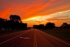 Beautiful orange and yellow sunset