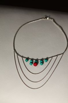 BUY it with 10% DISCOUNT! Use PINXMAS coupon code. Silver chain necklace with real claret and by DeaJewelleryStore