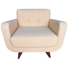 """Beautiful mid-century modern chair originally purchased at Room & Board. This particular color """"Discover Maize"""" doesn't appear to be available anymore. I fell in love with it immediately but it doesn't fit the style of our living room anymore. The chair is in excellent condition as it was rarely used. Made in the USA."""