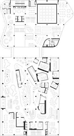 Gallery of ASB HQ / BVN Donovan Hill + Jasmax - 37 Office Layout Plan, Office Floor Plan, Interior Design Layout, Layout Design, Zaha Hadid Interior, Plan Drawing, Co Working, Bar Lounge, Plan Design