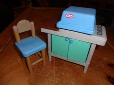 Details About Vintage Little Tikes Pink Amp White Vanity