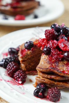 Simple Chocolate Pancakes | tomatoboots.co
