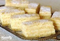 Pille szelet | Nosalty Hungarian Desserts, Hungarian Recipes, Cake Cookies, Dessert Recipes, Drink Recipes, Good Food, Food And Drink, Cooking Recipes, Sweets