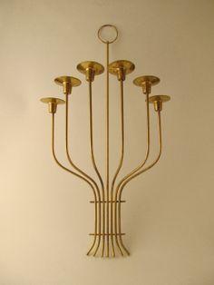 LARGE Tommi Parzinger for Dorlyn Brass Candelabra by RefineModern, $195.00
