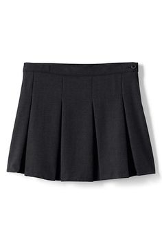 b395ac7943b237 School Uniform Solid Box Pleat Skirt Above Knee
