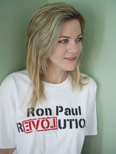 Ron Paul Revolution T Shirt--Finally someone I can vote for without thinking it is just the lesser of two evils!