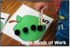 Little Minds at Work: Recap of last week and Peek at my week Math Classroom, Kindergarten Math, Teaching Math, Math Activities, Preschool Activities, Learning Stations, Kids Learning, Daycare Themes, Apple Theme