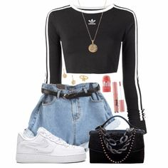 The post & appeared first on Mujer Moda Club. Teen Fashion Outfits, Kpop Outfits, Edgy Outfits, Mode Outfits, Retro Outfits, Summer Outfits, Girl Outfits, Womens Fashion, Fashion Moda