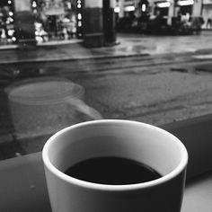 Coffee cup, early morning in Oslo! Black and white photography. iphone 5s.