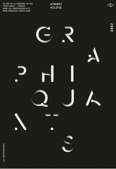 Typographic poster design by Les Graphiquants Graphic Design Studios, Graphic Design Posters, Graphic Design Typography, Lettering, Typography Letters, Typo Poster, Typographic Poster, Typo Design, Web Design