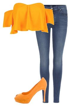 """""""Untitled #441"""" by x-little-miss-perfect-x on Polyvore featuring 7 For All Mankind, Boohoo and Yves Saint Laurent"""