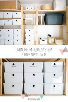 Ikea Organisation, Storage Room Organization, Storage Spaces, Ivar Regal, Garage Shelving, Working Area, Home Renovation, Home Projects, Home Goods