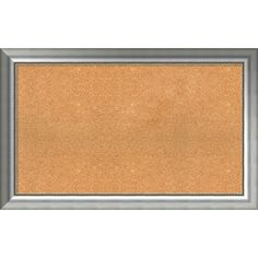 Framed Cork Board, Choose Your Custom Size, Vegas Curved Silver Wood (39 x 19-inch)