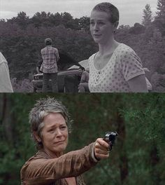 Carol then and Carol now (she's changed so much she now had guts to do almost anything)