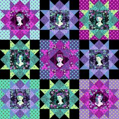 Tula Pink Family Portrait Quilt Kit and Pattern - TheDIYAddict