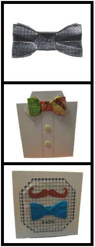 Father's Day card + bow tie decorations (link for bow tie only)