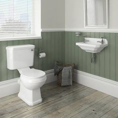 Carlton 515mm Traditional Cloakroom Basin (2 Tap Hole - Depth 300mm)