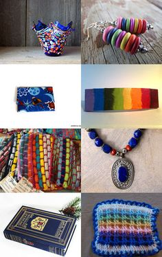 Colourful Blue Gifts by Sally Grayson on Etsy--Pinned with TreasuryPin.com