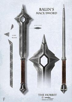 25 Ideas Medieval Concept Art The Hobbit Fantasy Sword, Fantasy Weapons, Fantasy Rpg, Medieval Fantasy, Medieval Weapons, Sci Fi Weapons, Weapon Concept Art, Tolkien, Swords And Daggers