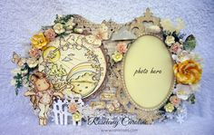 "me and my craft corner : ""Here I am"" frame at I Am Roses Challenge blog"
