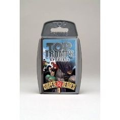 Top Trumps - DC Super Heroes by Top Trumps. $14.95. The first instalment of Top Trumps featuring Super Heroes form the world of DC Comics is here. Iconic crime-fighters like Batman and The Flash join all new heroes like Aquagirl and Raven. If its evil maniacs youâ?TMre after, DC Super Heroes 1 has plenty to offer with classic criminals like The Penguin and The Joker immortalised in Top Trumps. Playable with the Marvel decks too! The showdown for the title of ultimat...