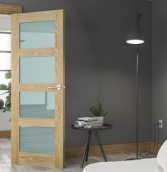 Our glass doors come with a opaque glass that  you can't see through 👀 We have all the brand's from Deanta and Doras Doors. Available from our website. Walnut Doors, Oak Doors, 4 Panel Shaker Doors, External Fire Doors, Frosted Glass Door, Glass Doors, Shaker Interior Doors, Primed Doors, Prehung Doors