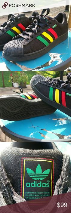 Adidas Original Rasta Hemp Sneakers Worn for 4 hours indoors, that's it! Brand new condition, NO BOX. Rare and hard to find! G65535 (**NOT ELIGIBLE FOR BUNDLE DISCOUNT**) Adidas Shoes Sneakers