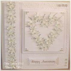 Hi All, Today I have a card made with the BRAND NEW Stamps by Chloe stamps. Today I have chosen a card using the Flower Wreath and Flower B. Card Making Inspiration, Making Ideas, Wedding Cards Handmade, Handmade Cards, Chloes Creative Cards, Stamps By Chloe, Card Making Designs, Homemade Birthday Cards, Romantic Cards