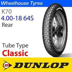 4.00-18 Dunlop K70 64s Tt Trasero in Vehicle Parts & Accessories,Motorcycle Wheels & Tyres,Tyres & Tubes | eBay