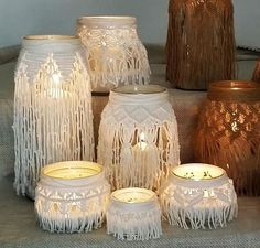 Jar covers | Knot Just For Fun | Pinterest | Macrame ...