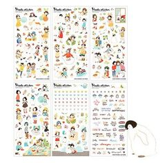 Heeda Sticker Korean Diary Stickers Korea Girl Ponybrown Transparent Stationary #Heeda