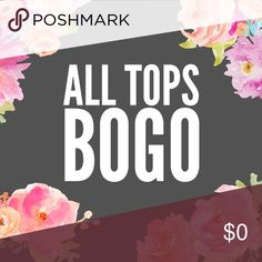 ALL TOPS BUY ONE GET ONE FREE!!! Purchase one top and get one (of equal or lesser value) FREE!!  Just let me know what 2 tops you'd like and I'll create a custom bundle listing.  Or create a bundle yourself and just offer the price of the more expensive top.  *cannot be applied to offers made!  Must pay listed price for one top. Tops