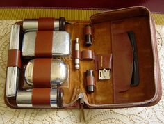 Art Deco Antique Vintage 1920s 1930s Mens Travel Grooming Kit. $75.00, via Etsy.