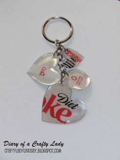 Upcycling! Pop can key chains!