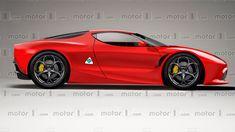 Alfa Romeo Render Attempts To Predict The Coupe Alfa Romeo Gtv, Alfa Romeo Cars, Bmw M4, Ferrari 488, Maserati, Gt V, Alfa Alfa, E Motor, Cars Usa