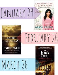 2013 Online Book Club - Mindy Kaling, Unbroken, The Book Thief